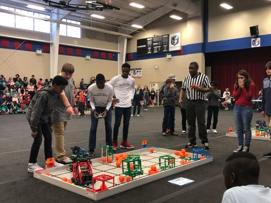 Pike Road students compete in a robotics tournament held in Pike Road. Forty teams took part in the event held at Pike Road Elementary School. More than 100 students participated.