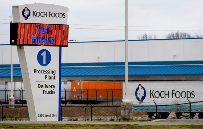 Koch Foods processing plant on West Blvd. in Montgomery, Ala., on Monday January 27, 2020.