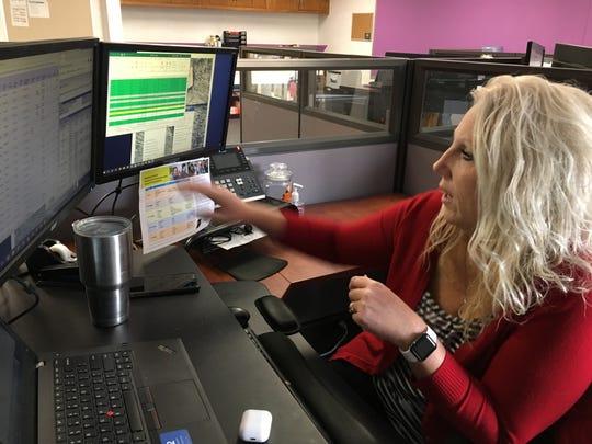 The Indiana Digital Learning School is an online school, but that doesn't mean it lacks a nurse: Leesa Estep.