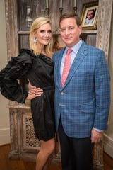 Hosts Mary Morgan and Paul Ketchel attend the Ballet Ball Ladies' and Gentlemen's Committee Party.