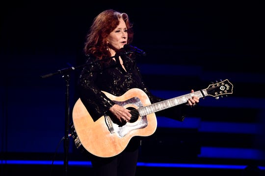 Bonnie Raitt performs Angel from Montgomery during a tribute honoring Lifetime Achievement Awards recipient John Prine at the 62nd annual GRAMMY Awards on Jan. 26, 2020 at the STAPLES Center in Los Angeles, Calif.