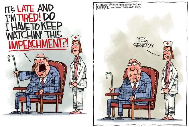 Old senators at impeachment trial.