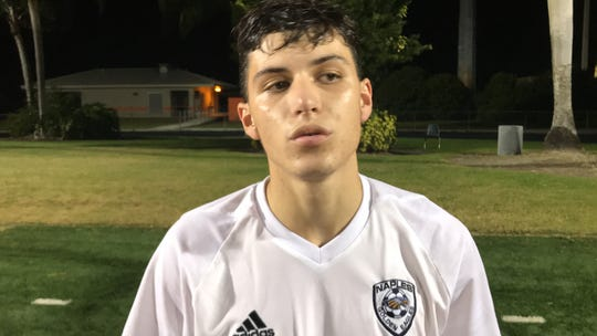 Naples senior Luis Baldivieso has a team-leading 18 goals and eight assists for the 17-1-1 Golden Eagles.