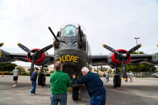 The WWII warbird  B-24 Liberator bomber arrived in Fort Myers Monday afternoon, January 27, 2020, as part of the Wings of Freedom tour.