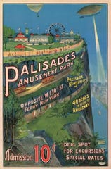 """Palisades Amusement Park began as a """"trolley park"""" -- a picnic grove at the end of the trolley line"""