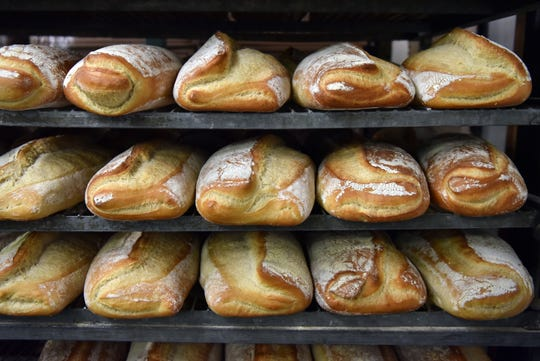 Anthony and Sons Bakery produces over 10,000 loaves of bread daily in their Denville factory. Producing hundreds of products and artisan specialties. Loaves of the bakeries famous Pane di Casa cool.