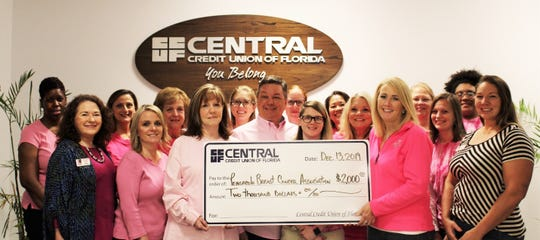 Local credit union donates to Pensacola Breast Cancer Association.
