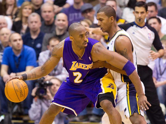 Los Angeles Lakers shooting guard Kobe Bryant (24) and Raja Bell had an intense rivalry.