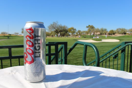 Coors Light is a popular beer option at the Waste Management Phoenix Open.