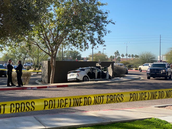 Scene from the Chandler shooting involving two people and an officer on Jan. 27, 2020.