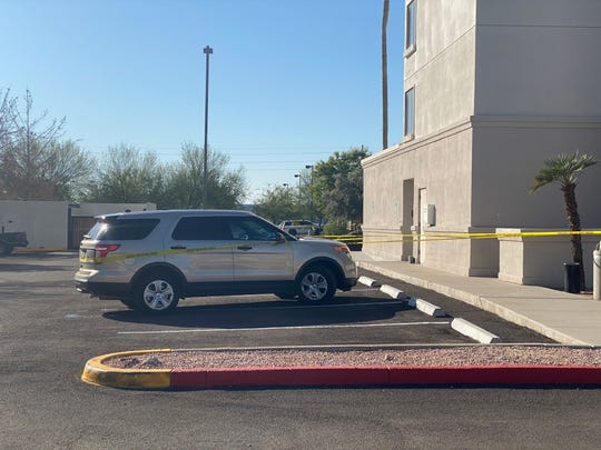Scene from the Chandler shooting involving two people and an officer on Monday, Jan. 27, 2020.