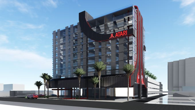 Rendering of Atari Hotel planned for Phoenix.