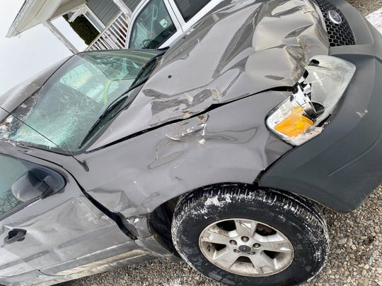 Armada junior Emma Gillies crashed her Ford Escape on her way to school on Thursday, Jan. 23, 2020.
