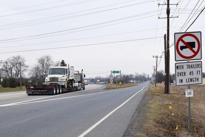 New signs that keep big rigs off Washington Street in Greencastle appear to be doing the job. Trucks of more than 45 feet are now banned from the street. Signs also guide the northbound trucks to stay on U.S. 11 north  in order to reach Pa. Route 16.