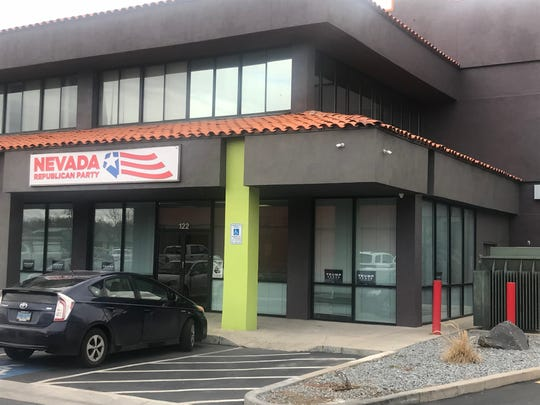 Trump 2020's Reno field office pictured Monday, Jan. 27, 2020. Democratic presidential candidate Pete Buttigieg maintains a field office one floor above the GOP's space.