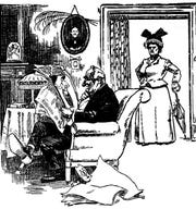 Feb. 3, 1882 news reports included an angry woman in search of a slanderer.