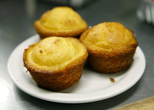 Corn muffins at Unkl Moe's are slightly sweet.