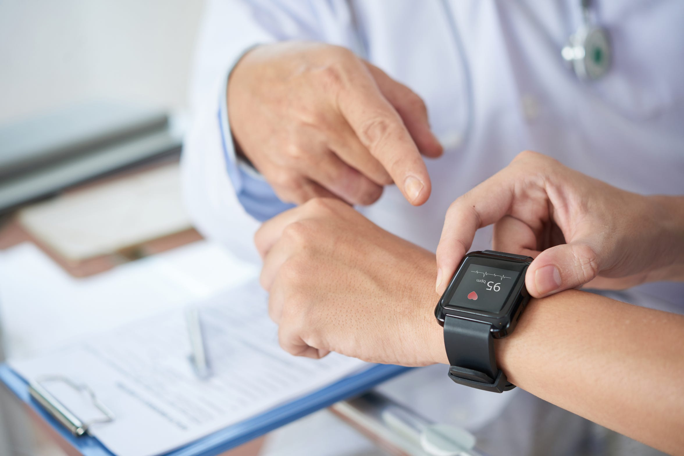VCR patients wear fitness trackers that are monitored remotely by specially-trained cardiac nurses.