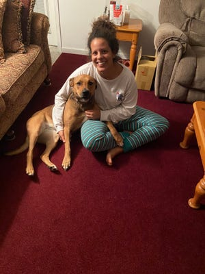 Timber, also known as Maggie Mae, was reunited with her owner Lauren Henderson after nearly three years apart.