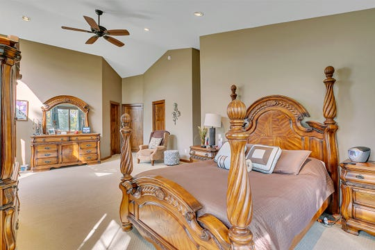 The spacious master suite is located on the second level of the home.
