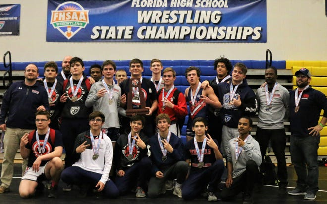 Wakulla's wrestling team earned its second straight FHSAA Class 1A Dual State Tournament runner-up trophy, beating Somerset Academy in the semifinals before falling to powerhouse Lake Highland Prep on Jan. 25, 2020.