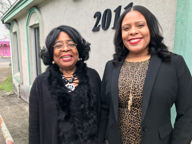 Connie Evans, and her daughter, also named Connie Evans, stand outside of what's being redeveloped as Chuck's Place and The Charles, a restaurant, lounge and event space to be complete by late 2020.