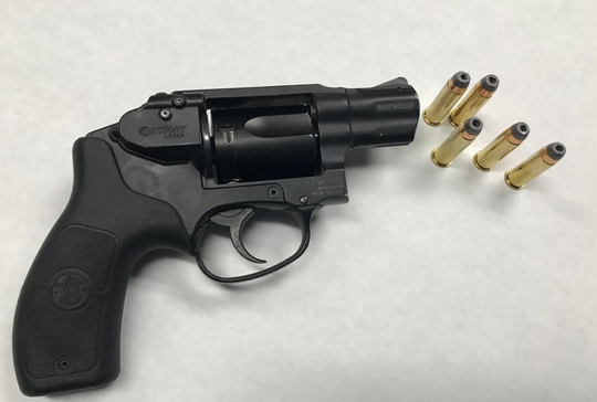 A revolver and ammunition seized by Oxnard police.