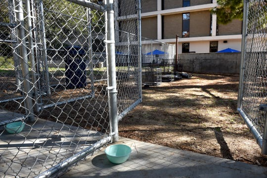 The ARCH homeless shelter in Ventura includes kennel shelters for pets. The shelter will begin taking clients next week.