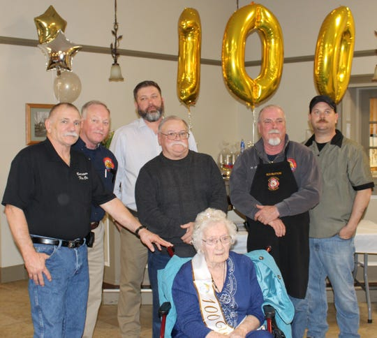 Mauricetown Fire Company invited family and friends of Mary Ella Morie to join in a celebration of her 100th birthday on Jan. 18.