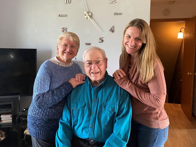 Susan, Bob, and daughter Rachel at our 2019 family Thanksgiving gathering.