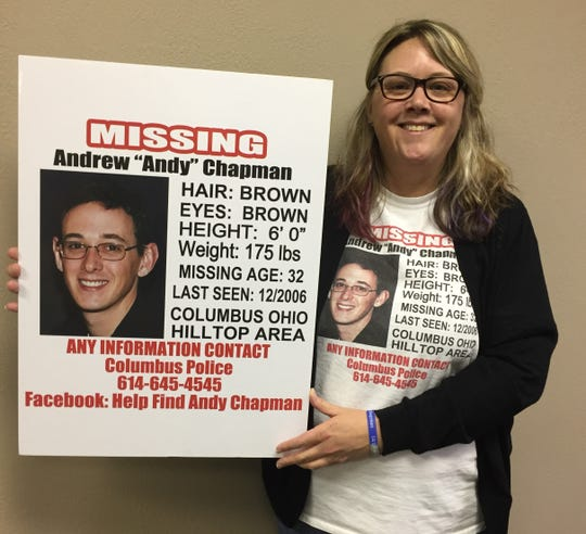 Aimee Chapman and her family have been searching for her brother, Andy, since he went missing 13 years ago.