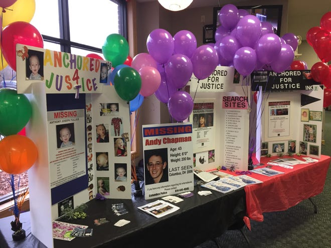 A missing persons event was held Sunday afternoon at Cornerstone Full Gospel Church in Duncan Falls. Family members and friends gathered in remembrance of Anthony Tullius, Andy Chapman, Barbara Frame and John Reed.