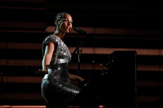 Alicia Keys performs during the 62nd annual Grammy Awards on Jan. 26, 2020.