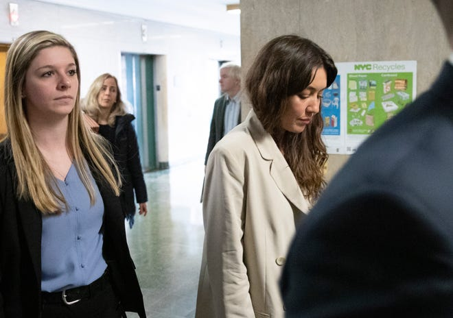 Mimi Haleyi arrives to testify as a complaining witness in Harvey Weinstein's sex-crimes trial on Jan. 27, 2020, in New York.