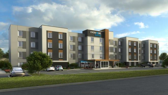 Artist's rendering of Everhome Suites hotel