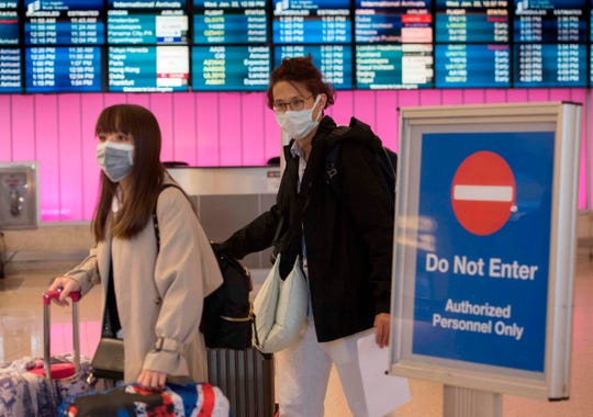 Some passengers arriving at Los Angeles International Airport have been wearing masks to protect against the spread of coronavirus.  LAX is one of five U.S. airports set up to screen passengers coming from the affected region of China.
