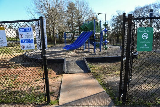 St. Francis Park near Friendship Court Apartments near Mauldin Street in Anderson, one of the City of Anderson Recreation Department Parks.