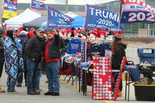 """Nick and Marjan Lala of Yonkers left at 3 a.m. to attend President Donald Trump's """"Keep America Great"""" rally in Wildwood Tuesday, Jan. 28, 2020."""