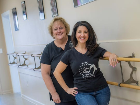 Jody Myslinski, left, and Joelle Iuliano, co-owners of Rising Stars Dance & Performing Arts School, Manalapan.