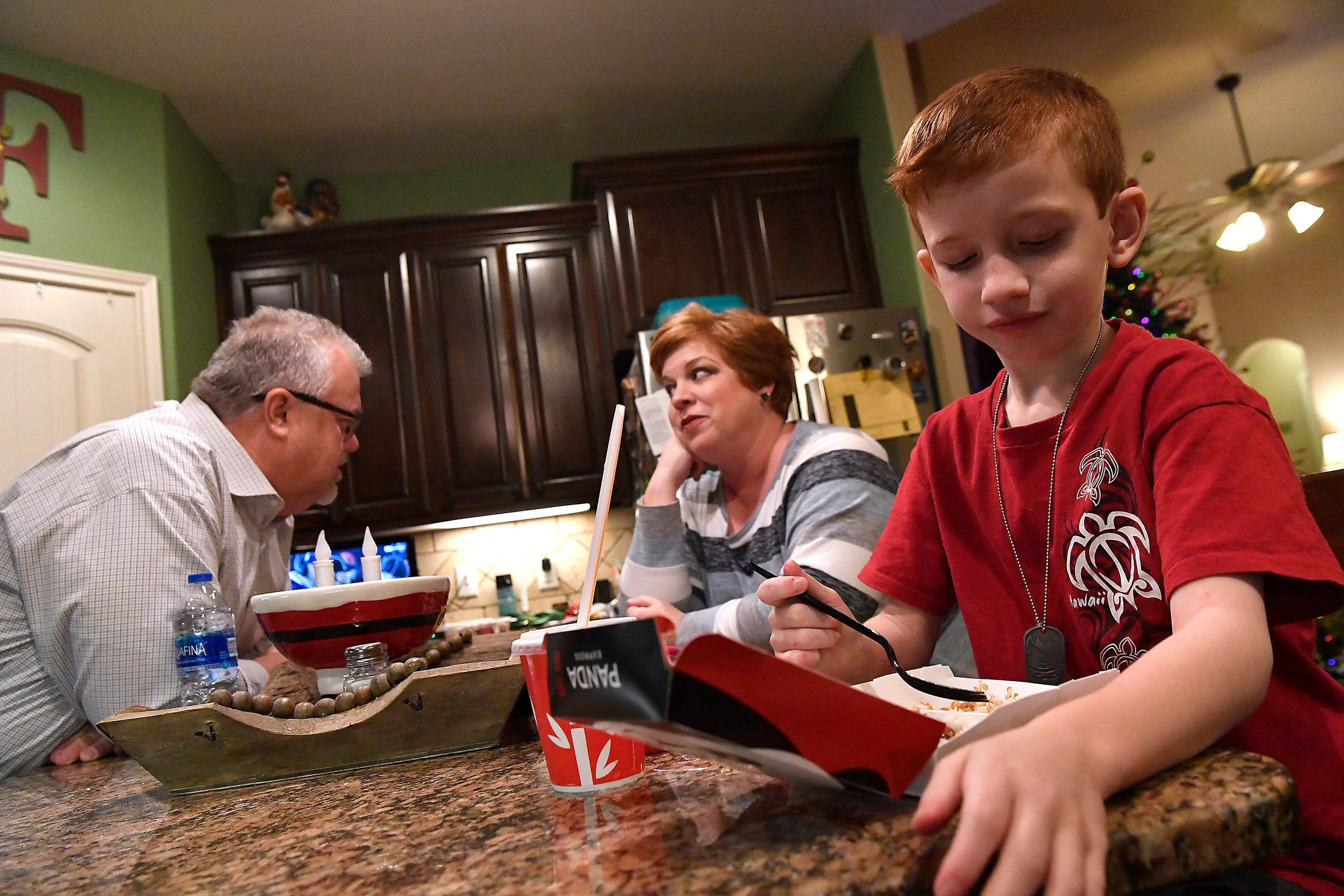 Lance and Jill Fleming remember their son, Rex Fleming, who died in November 2012 when he was just 10 years old, by keeping the rest of their family constantly aware of what happened seven years ago. Meanwhile, their son Ryan, 8, just wants to finish his dinner.