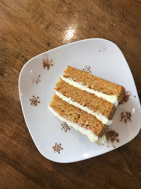 Carrot cake at the French Broad Chocolate Lounge