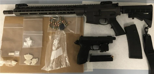 Melbourne police seized drugs and several weapons during search warrants last week