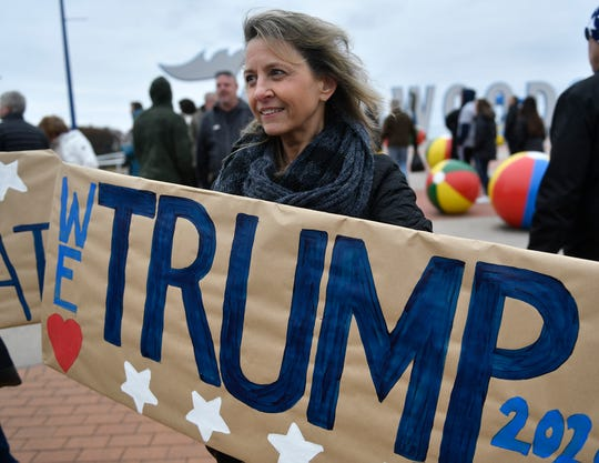 Scenes from around the Wildwood (NJ) Convention Center where President Donald Trump is scheduled to speak later Tuesday, January 28, 2020.