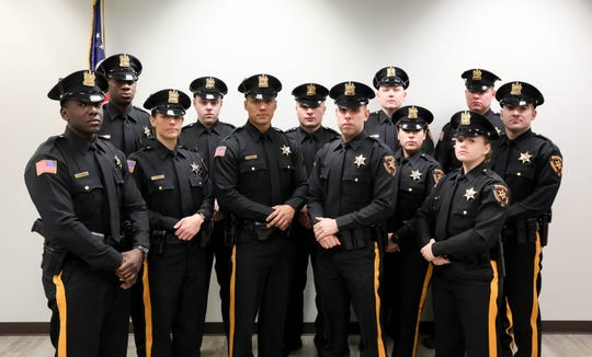 Middlesex County Sheriff Mildred S. Scott swore in 12 Sheriff's Officers on Jan. 23.
