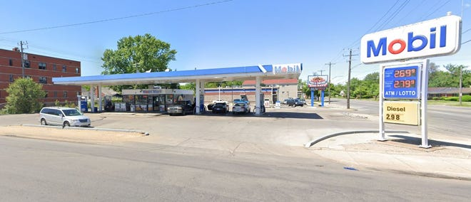 Mobil gas station at 15510 Fenkell Ave. in Detroit.