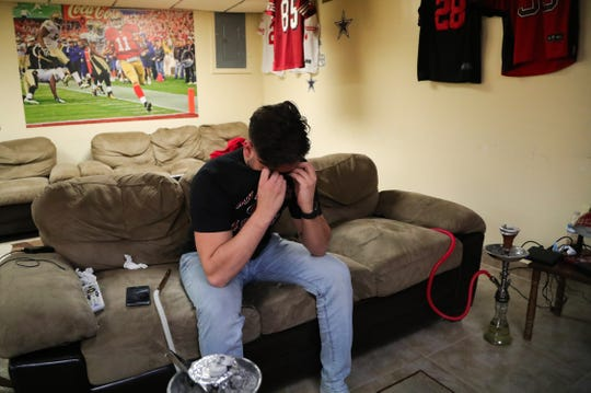 Mike Ajami is in tears after the San Francisco 49ers beat the Green Bay Packers in the NFC Championship Sunday, Jan.19, 2020.