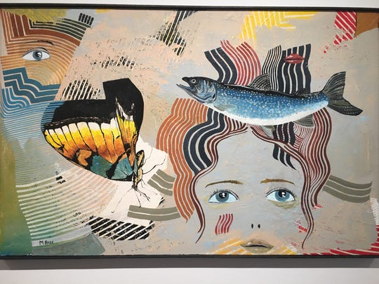 """Greek Fisherman's Hat"" by Mike Ross in ""Natural / Automatic"" at W. Bloomfield's Janice Charach Gallery through Feb. 13."