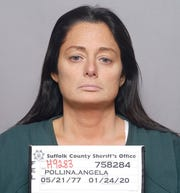 This Jan. 24, 2020 photo provided by the Suffolk County Sheriff's Office, shows Angela Pollina who is charged with second-degree murder in the death of 8-year-old Thomas Valva in Center Moriches, N.Y.