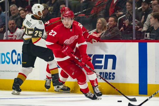 In 62 games with the Red Wings last season, Michael Rasmussen totaled 18 points (eightgoals) while playing mostly wing —an unnatural position for him.