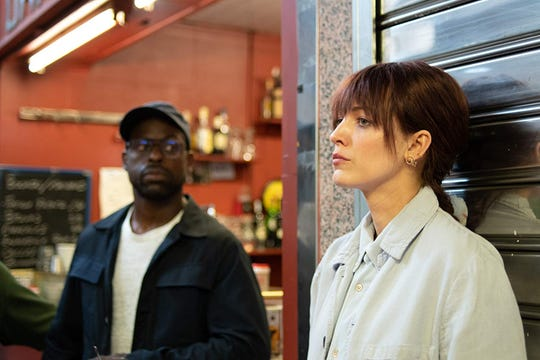 "Sterling K. Brown and Blake Lively in ""The Rhythm Section."""